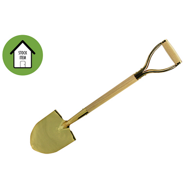 Picture of Gold Groundbreaking Ceremonial Shovel wi