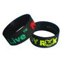 Silicone Wristband 25mm Debossed and Ink