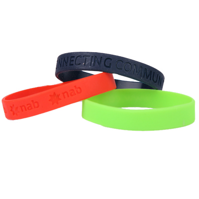 Picture of Silicone Wristband 12mm Debossed