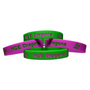 Silicone Wristband 12mm Debossed and Ink