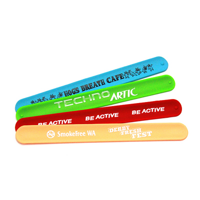 Picture of Silicone Slap Band Printed Optional Debo