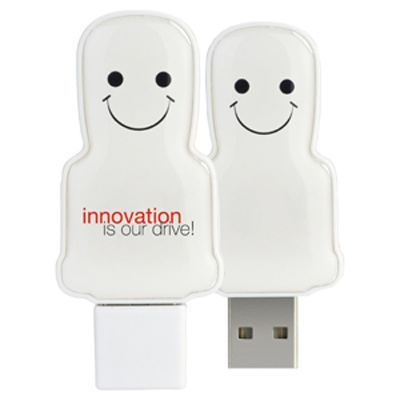 Picture of Mini USB People 1GB - White
