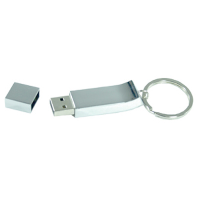 Picture of Chrome Keyring Flash Drive 1GB