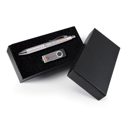 Picture of Style Gift Set - Bling Pen and Swivel Fl
