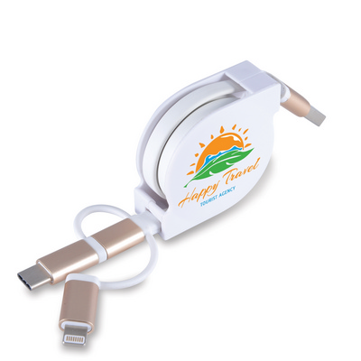 Picture of Fury 3 in 1 Retractable USB/8 Pin Connec