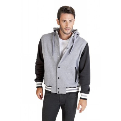 Picture of Mens Varsity Jacket With Hood