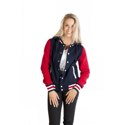 Picture of Ladies juniors Varsity Jacket With Hood
