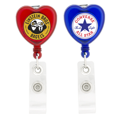Picture of Heart Shaped Retractable Badge Holder