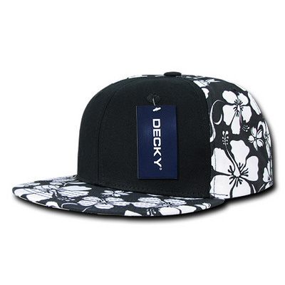 Picture of Solid Front Floral Snapback