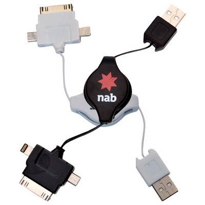 Picture of 3 in 1 Retractable USB Charger