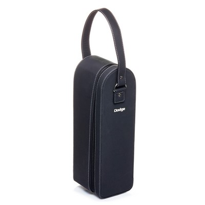 Picture of Sueded Leatherette Single Bottle Wine Ca