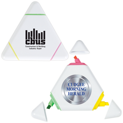 Picture of White Triangular Highlight Marker