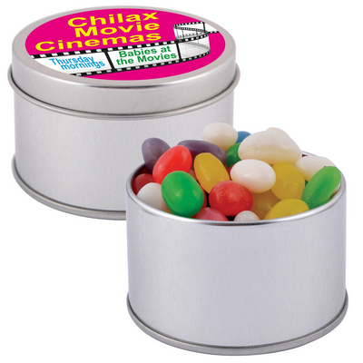 Picture of Assorted Colour Mini Jelly Beans in Silv
