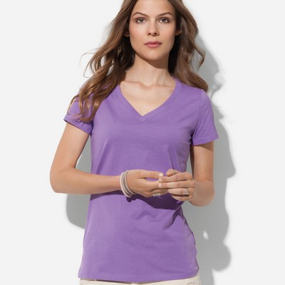 Picture of Womens Organic V-Neck