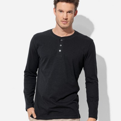 Picture of Mens Henley Long Sleeve