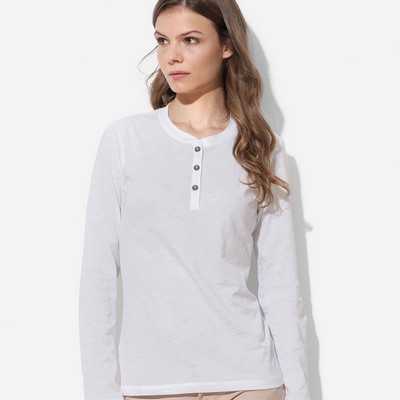 Picture of Womens Henley Long Sleeve