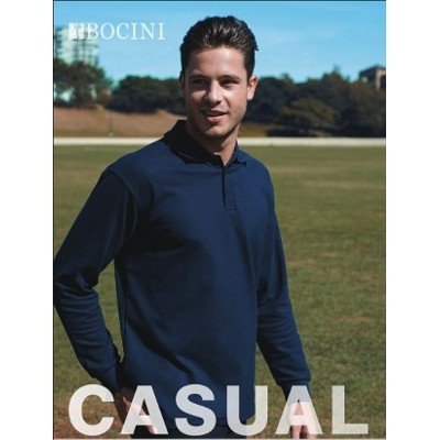 Picture of Mens Long Sleeve Basic Polo