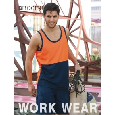 Picture of Unisex Adults Hi-Vis PolyfaceCotton Back