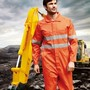 Unisex Adults Hi-Vis Cotton Drill Overal