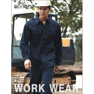 Picture of Unisex Adults Cotton Drill Work Shirt LS