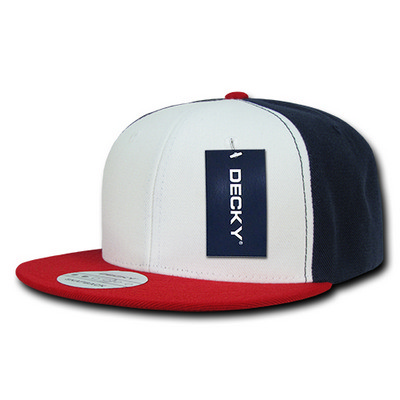 Picture of Decky 3 Tone Flat Bill Snapback