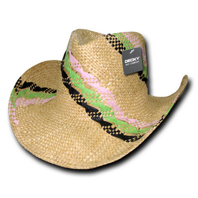Picture of Decky Hillary Yellow Straw Cowboy Hat