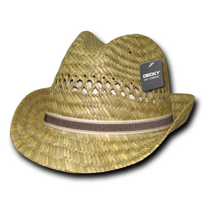 Picture of Decky Mat Straw Woven Fedora