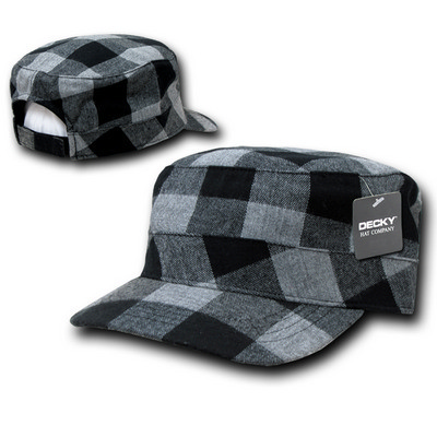 Picture of Decky Flannel Flat Top Cap