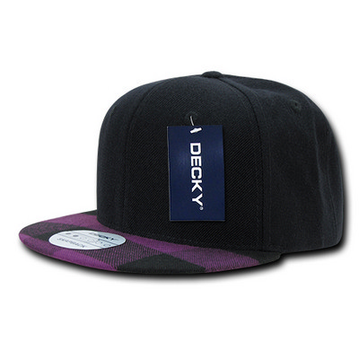 Picture of Decky Plaid Flat Bill Snapback