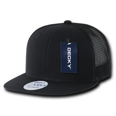 Picture of Decky 6 Panel Flat Bill Trucker Cap