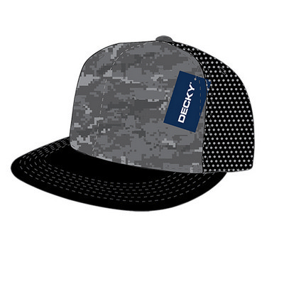 Picture of Decky 5 Panel Flat Bill Trucker Hat