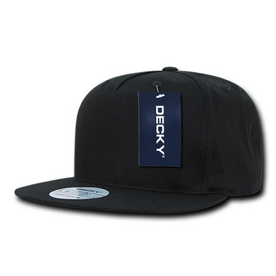 Picture of Decky 5 Panel Cotton Flat Bill Snapback