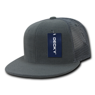 Picture of Decky 6 Panel Flat Bill Terry Trucker