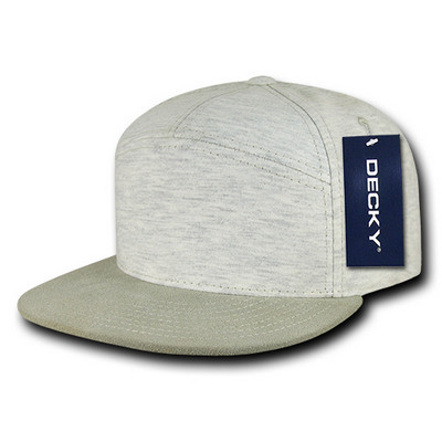 Picture of Decky 7 Panel Heather Jersey Snapback