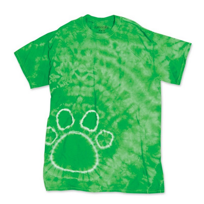 Picture of Dyenomite PAW PRINT RIGHT TIE DYED TEE