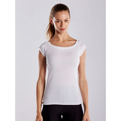 Picture of US Blanks WOMEN OPEN NECK RAW EDGE TEE