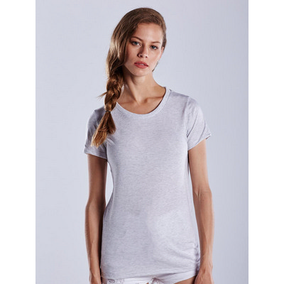 Picture of US Blanks WOMEN S SLEEVE TRI-BLEND CREW
