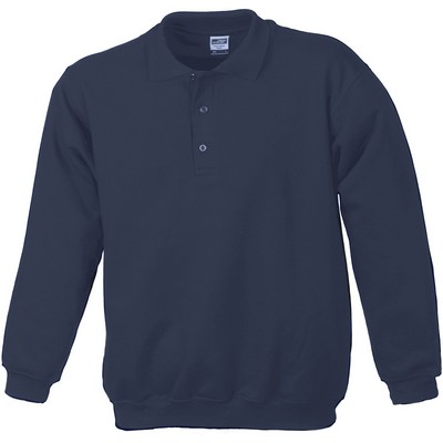 Picture of James & Nicholson Polo-Sweat Heavy