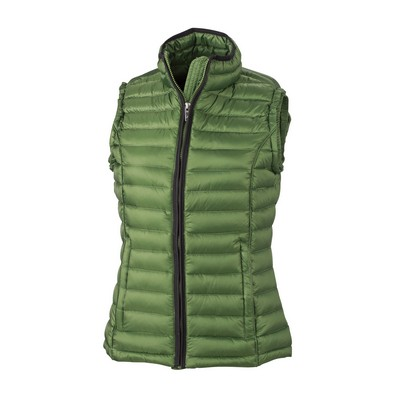 Picture of James & Nicholson Ladies Quilted Down V