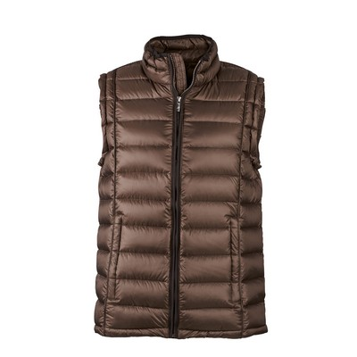 Picture of James & Nicholson Men Quilted Down Vest