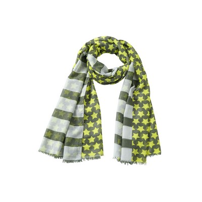 """Picture of Myrtle Beach Scarf """"Stripes and Stars"""""""