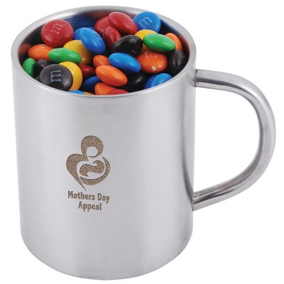 Picture of M&Ms in Stainless Steel Java Mug
