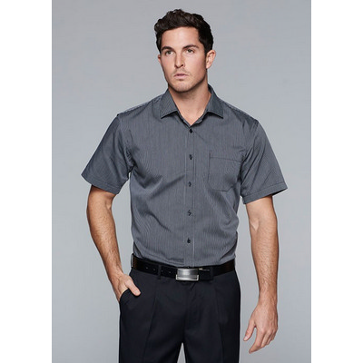 Picture of Mens Henley Striped Short Sleeve Shirt