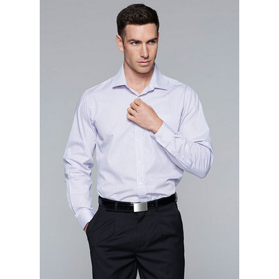 Picture of Mens Henley Striped Long Sleeve Shirt