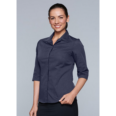 Picture of Ladies Grange Check 3/4 Sleeve Shirt