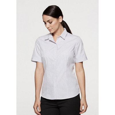Picture of Ladies Bayview Wide Stripe Short Sleeve
