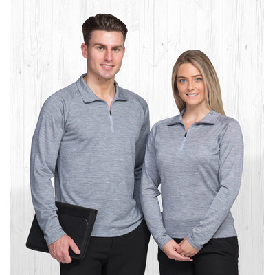 Picture of Merino Zip Pullover - Mens
