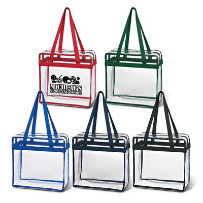 Picture of Clear Tote With Zipper