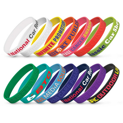 Picture of Silicone Wrist Band - Embossed