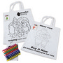 Colouring in Short Handle Cotton Tote Ba